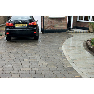 Marshalls Drivesett Tegula Priora Driveway Block Paving - Pennant Grey 240 x 160 x 60mm Pack of 232