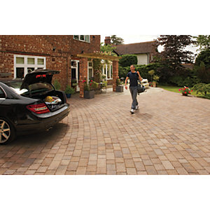Marshalls Drivesett Tegula Textured Driveway Block Paving - Autumn 120 x 160 x 50mm Pack of 606