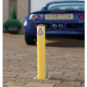Marshalls Metal Security Post - Yellow