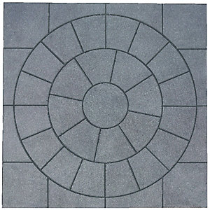Wickes Buxton Circle Kit 2470 x 2470mm Charcoal
