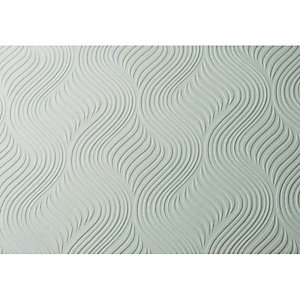 Graham & Brown Paintable Blown Wallpaper Pure White 10m