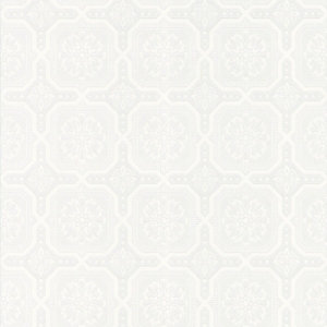 Graham & Brown Paintable Textured Blown Vinyl Wallpaper Classic Tile White - 10m