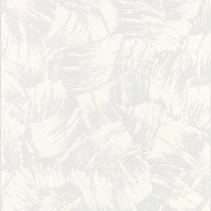Graham & Brown Paintable Textured Blown Vinyl Wallpaper Heavy Brush White - 10m