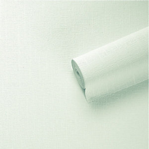 Graham & Brown Paintable Textured Blown Vinyl Wallpaper Stucco White - 10m