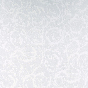 Graham & Brown Paintable Textured Blown Vinyl Wallpaper Swirl White - 10m