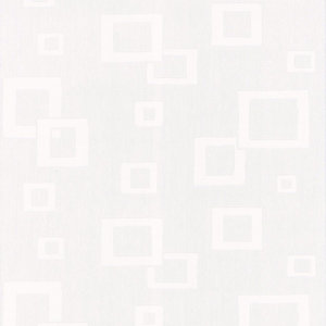 Graham & Brown Textured Blown Vinyl Geometric Wallpaper White - 10m