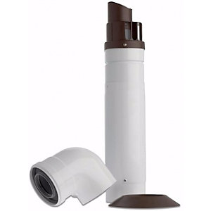 Baxi Multifit Telescopic Horizontal Flue with Low Profile Bend