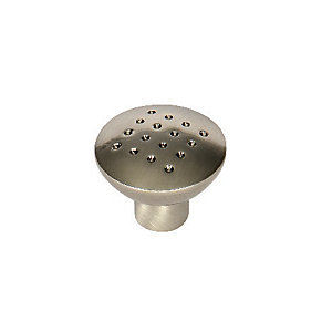 Wickes Dimple Door Knob - Brushed Nickel 32mm Pack of 6