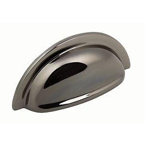 Wickes Tilbury Cup Handle - Black Nickel 92mm