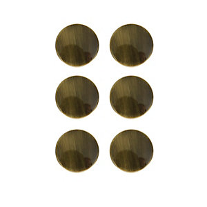 Wickes Victorian Door Knob - Antique Brass 38mm Pack of 6