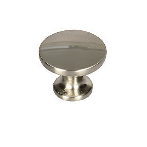 Wickes Victorian Door Knob - Brushed Nickel 30mm Pack of 6