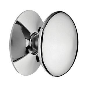 Wickes Victorian Door Knob - Chrome 25mm Pack of 4