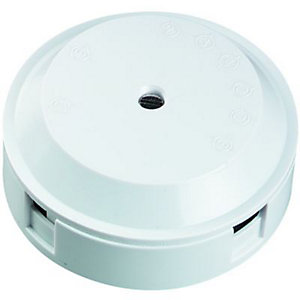 Wickes 4 Terminal Junction Box - White 5A