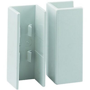 Wickes Mini Trunking Coupler - White 16 x 16mm Pack of 2