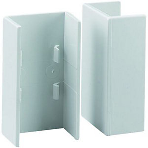 Wickes Mini Trunking Coupler - White 25 x 16mm Pack of 2