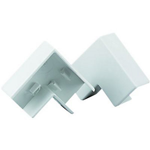 Wickes Mini Trunking Flat Angle - White 16 x 16mm Pack of 2
