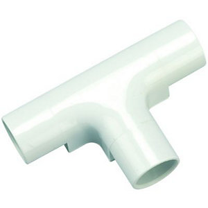 Wickes Trunking Inspection Tee - White 20mm