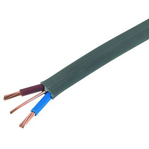 Wickes 2 Core Twin & Earth Cable - 6.0mm - 50m