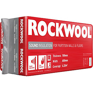 Rockwool Sound Insulation Slab - 100 x 600mm x 1.2m