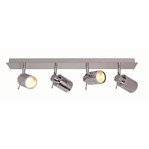 Bathroom lights lighting decorating interiors wickes spa scorpius chrome quad bathroom bar light 140w aloadofball Image collections