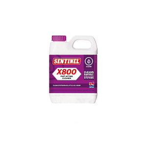 Sentinel X800 Jetflo Fast Acting Central Heating System Cleaner - 1L