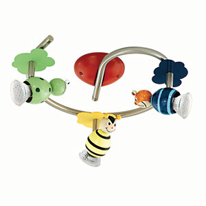 Eglo Childrens 3 Lamp Animal Spot Light Ring - GU10