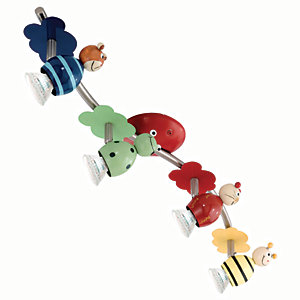 Eglo Childrens 4 Lamp Animal Spot Light Bar - GU10