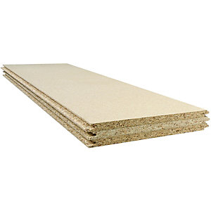 Wickes Chipboard Loft Panels - 320mm x 1220mm Pack of 3