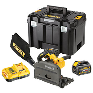 DEWALT DCS520T2-GB 54V XR Flexvolt Cordless Brushless Plunge Saw With 2 x 6.0Ah Batteries