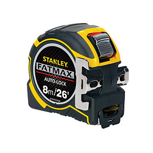 Stanley FatMax Auto Lock Tape Measure - 8m
