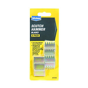 Wickes Blades for Scutch Hammer - Pack of 5