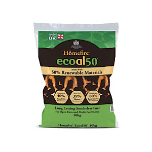 Homefire Ecoal 50 Smokeless Coal - 10 Kg Bag