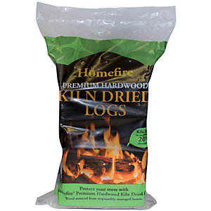 Homefire Hardwood Kiln Dried Logs - 10Kg Bag