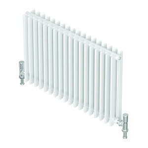 QRL Adagio Horizontal Multi-Column Designer Radiator - White 400 x 840 mm