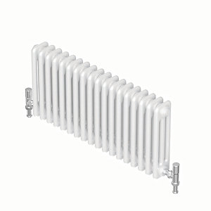 QRL Forza Traditional Column Designer Radiator - White 600 x 552 mm