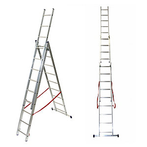 Tb Davies 2.58m Light Duty Aluminium Combination Ladder