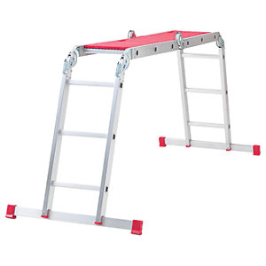 Werner 12 Way Aluminium Combination Ladder - Max Height 3.38m