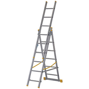 Werner 3.78m Extensionplus Aluminium 4 way Combination Ladder