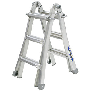 Werner 4x3 Telescopic Aluminium Combination Ladder - Max Height 2.88m