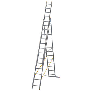 Werner Extensionplus X4 Aluminium Combination Ladder - Max Height 10.22m