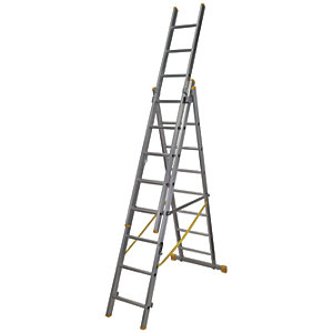 Werner Extensionplus X4 Aluminium Combination Ladder - Max Height 5.18m