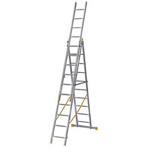 Werner Extensionplus X4 Aluminium Combination Ladder - Max Height 6.86m
