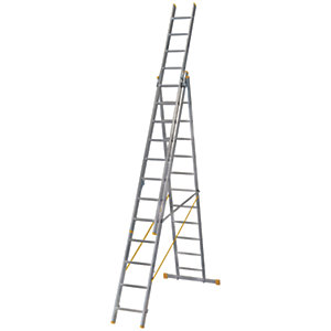 Werner Extensionplus X4 Aluminium Combination Ladder - Max Height 8.54m