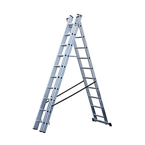 Youngman Professional Aluminium 3 Section Combination Ladder - Max Height 7.22m