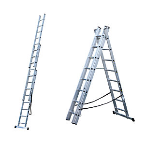 Youngman Trade Aluminium 4 Way Combination Ladder - Max Height 5.58m