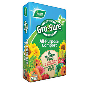 Gro-sure All-Purpose Compost & 4 Month Feed - 50L