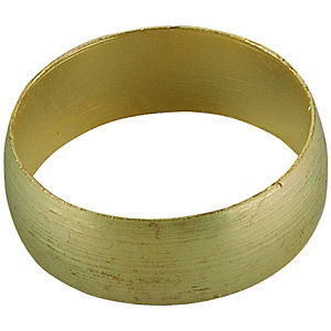 Wickes Compression Brass Olive Ring  - 15mm Pack of 8