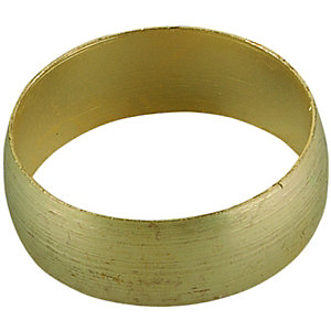 Wickes Compression Brass Olive Ring - 22mm Pack of 5