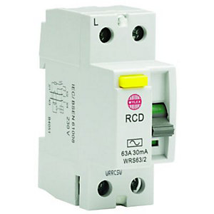 Wylex 30mA Double Pole RCD Circuit Breaker - 63A