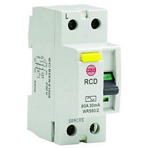Wylex 30mA Double Pole RCD Circuit Breaker - 80A